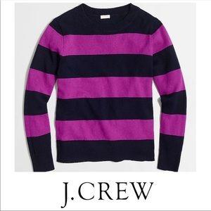 J. Crew blue and purple stripe sweater size medium